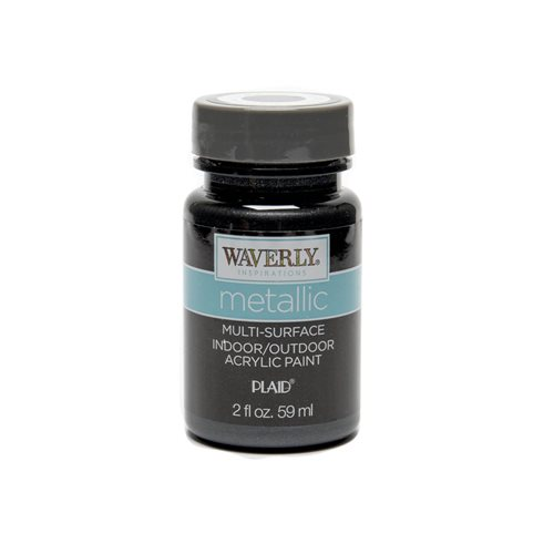 Waverly ® Inspirations Metallic Multi-Surface Acrylic Paint - Black Opal, 2 oz.
