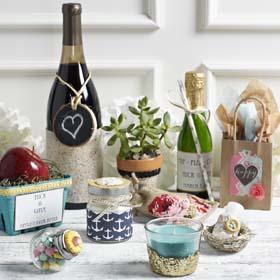Custom Label Champagne Wedding Favors