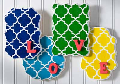 Love Quatrefoil Wall Hanging