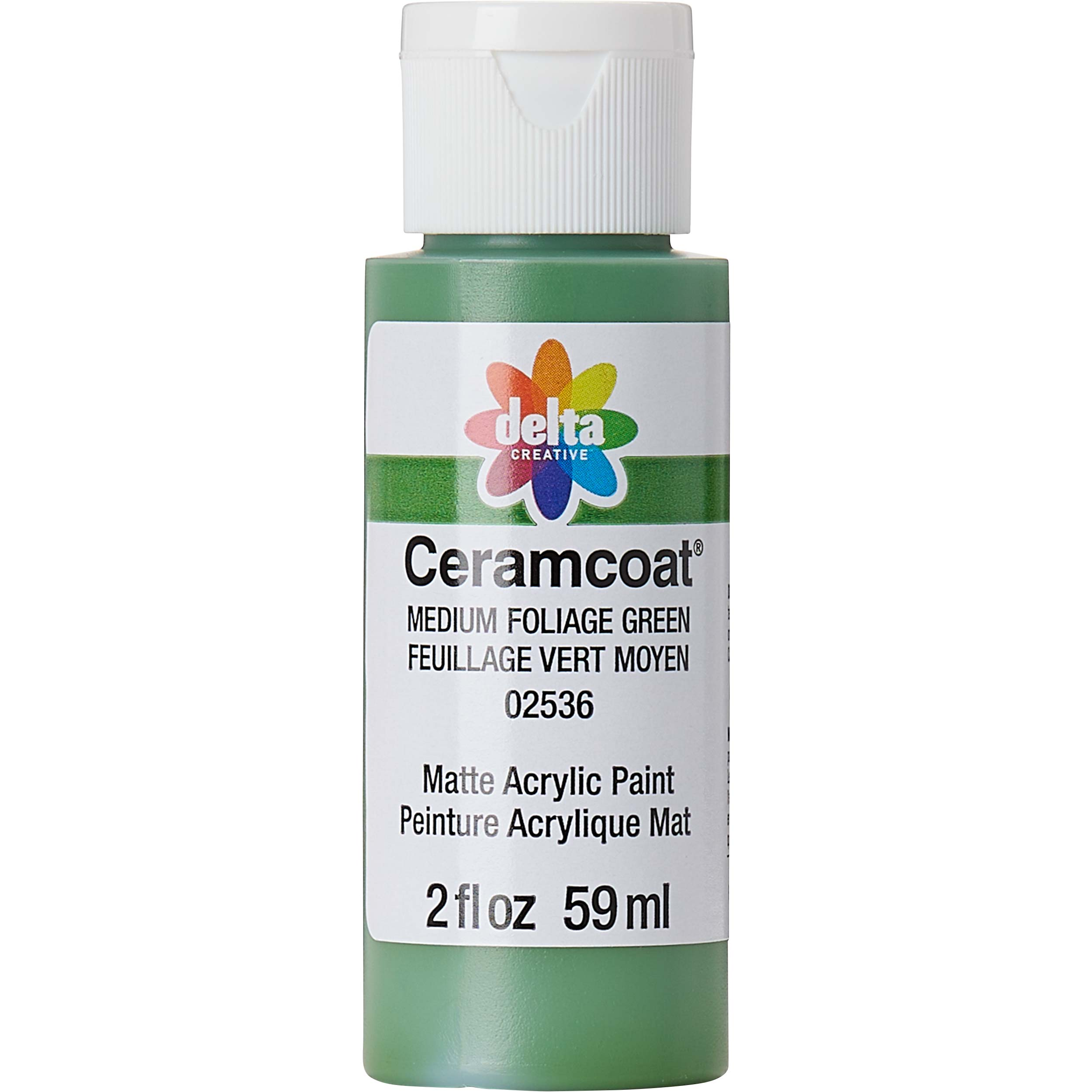 Delta Ceramcoat ® Acrylic Paint - Medium Foliage Green, 2 oz.