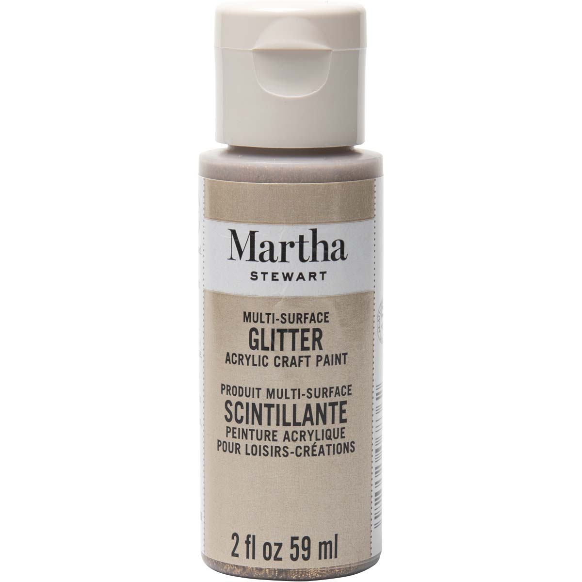 Martha Stewart® 2oz Multi-Surface Glitter Acrylic Craft Paint - Smoky Quartz