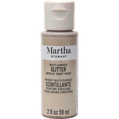 Martha Stewart ® Multi-Surface Glitter Acrylic Craft Paint - Smoky Quartz, 2 oz. - 32175CA