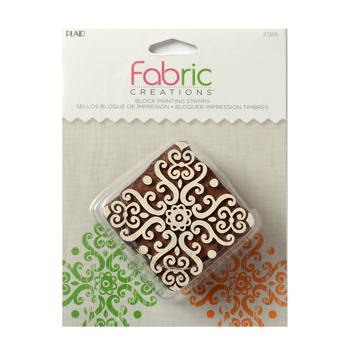 Fabric Creations™ Block Printing Stamps - Medium - Baroque Medallion - 27205