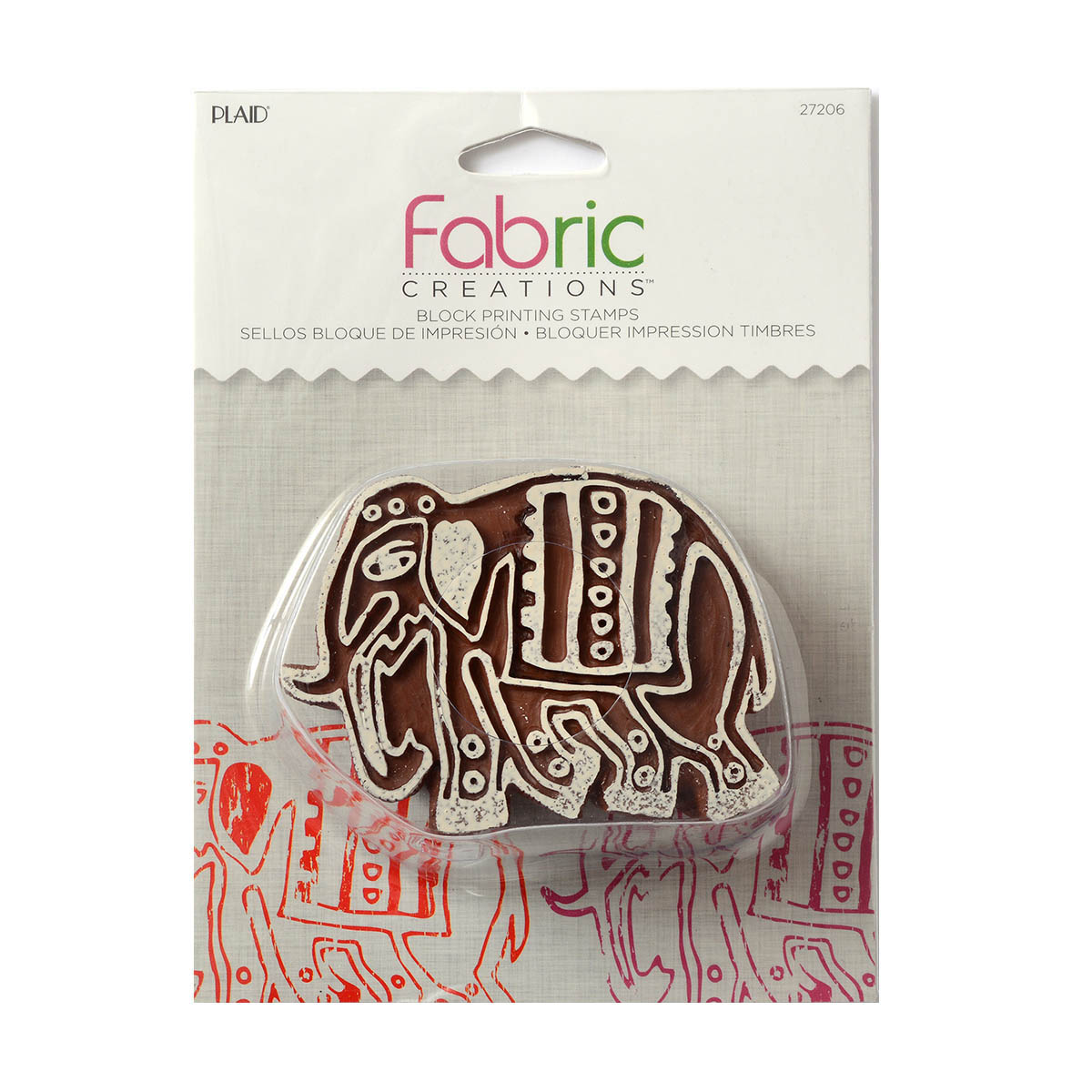 Fabric Creations™ Block Printing Stamps - Medium - Parade Elephant
