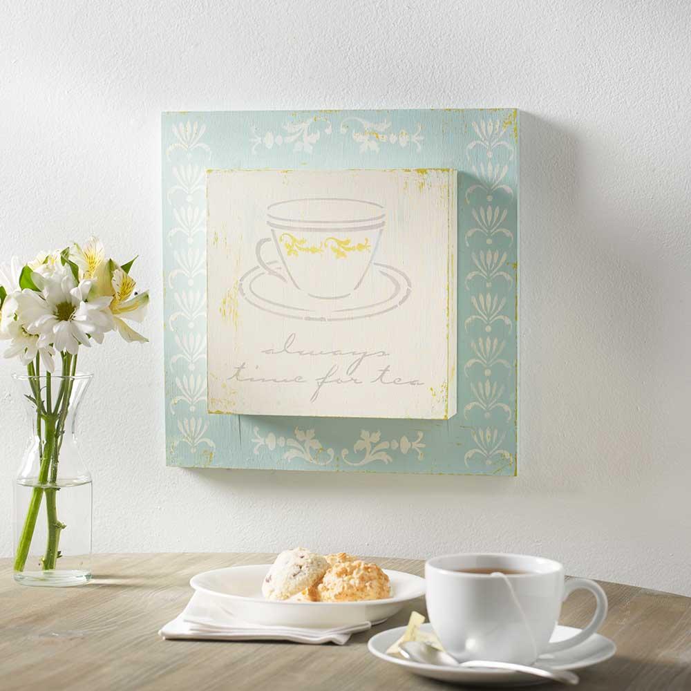 FolkArt ® Painting Stencils - Adhesive Laser - Tea Time