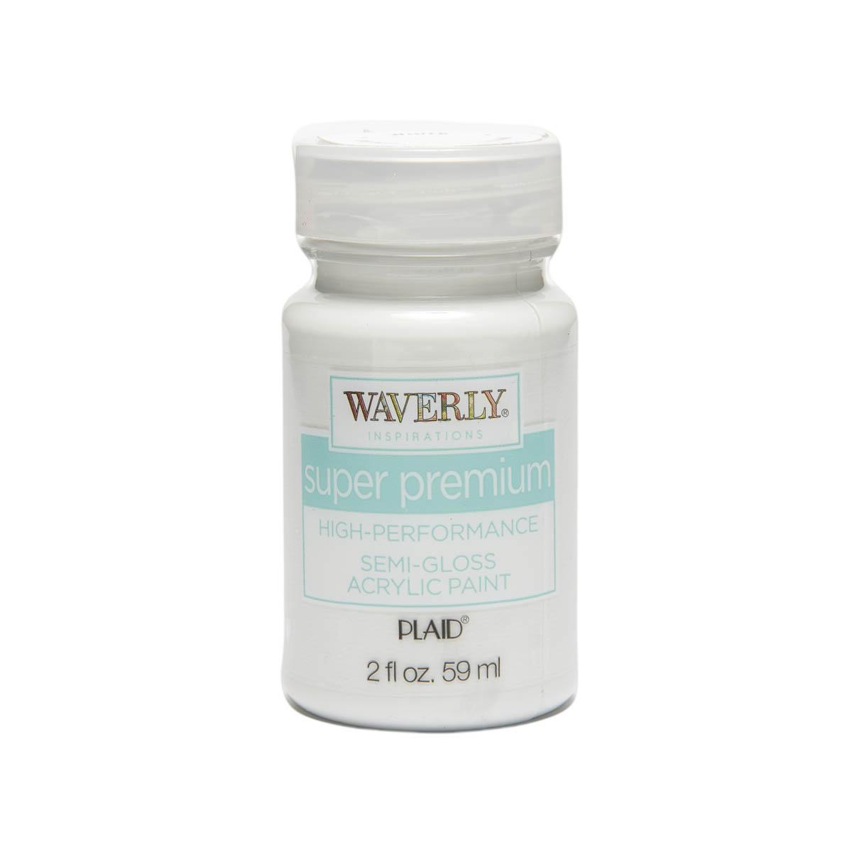 Waverly ® Inspirations Super Premium Semi-Gloss Acrylic Paint - White, 2 oz. - 60598E
