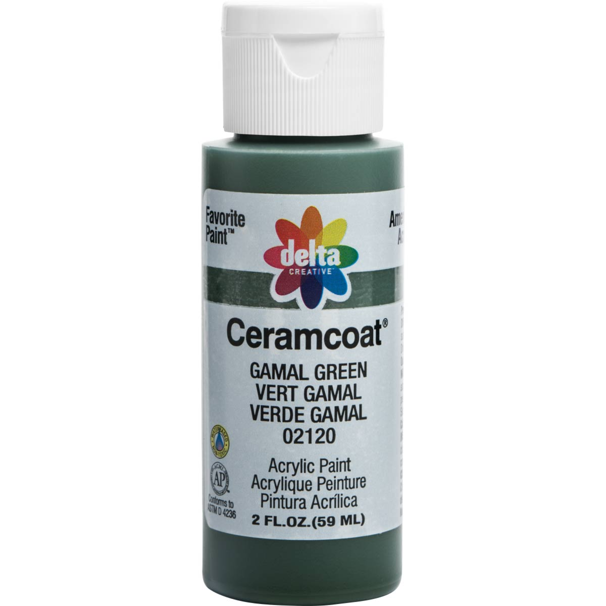 Delta Ceramcoat ® Acrylic Paint - Gamal Green, 2 oz. - 02120