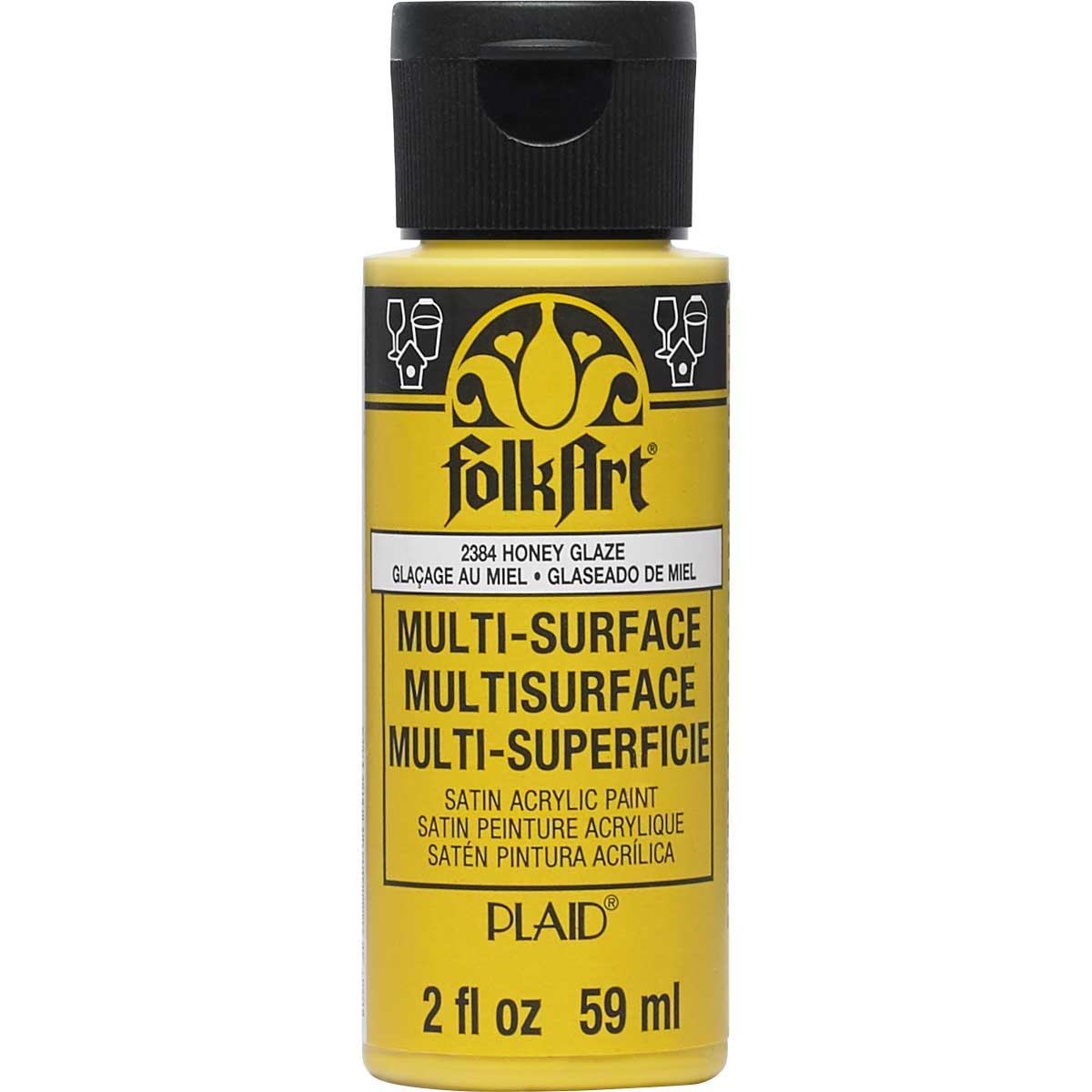 FolkArt ® Multi-Surface Satin Acrylic Paints - Honey Glaze, 2 oz. - 2384