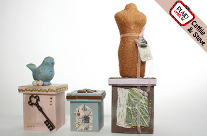Shabby Nesting Boxes
