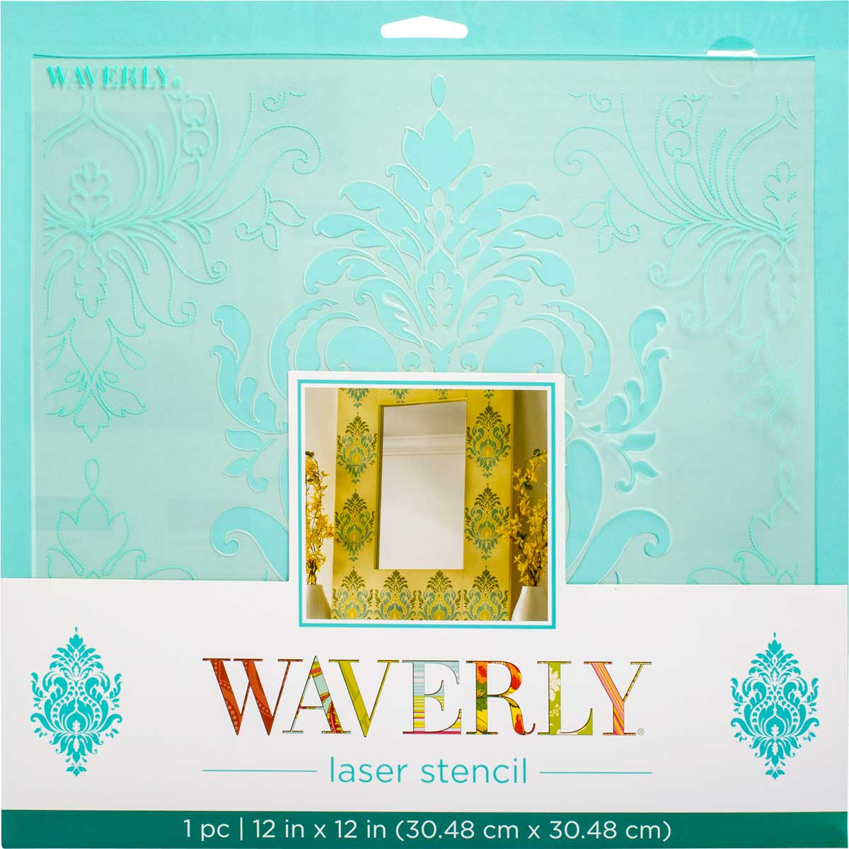 Waverly ® Laser Stencils - Dressed Damask, 12