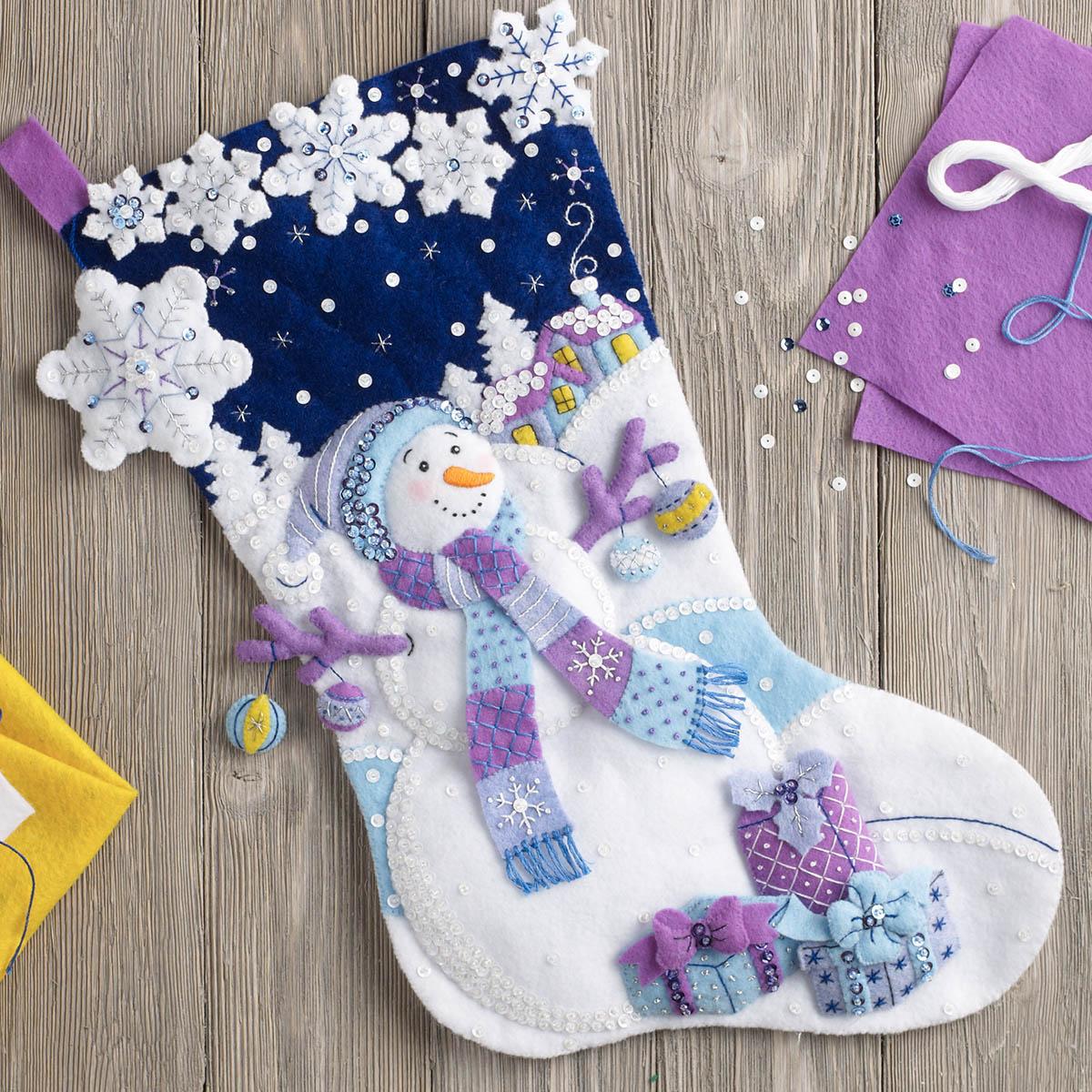 Bucilla ® Seasonal - Felt - Stocking Kits - Frosty Night - 86703