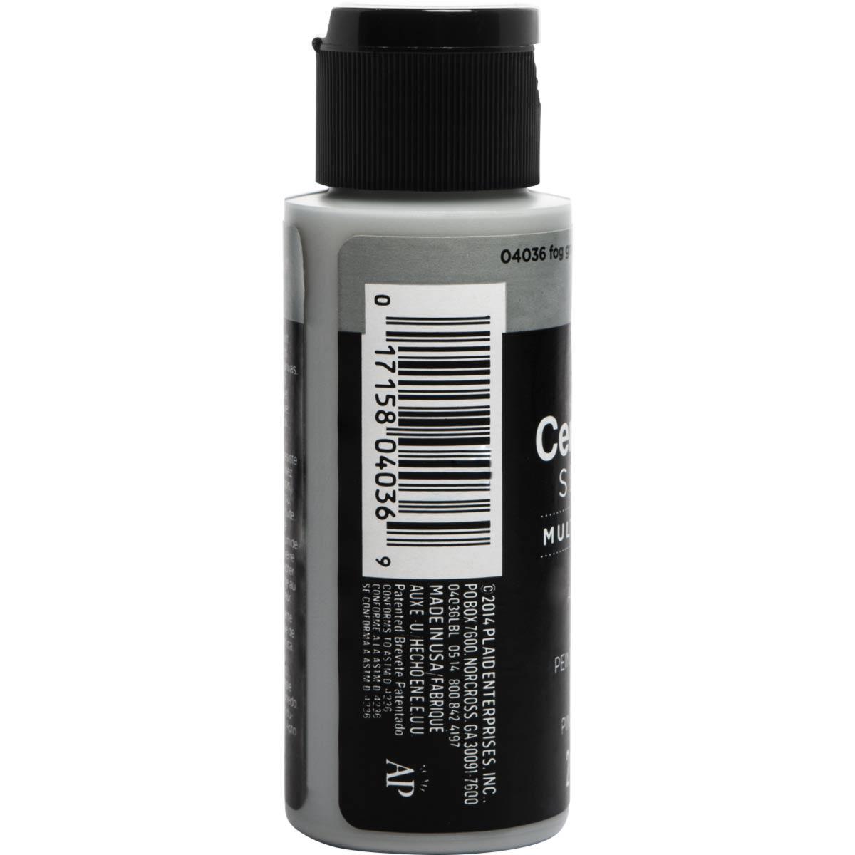 Delta Ceramcoat ® Select Multi-Surface Acrylic Paint - Satin - Fog Gray, 2 oz. - 04036