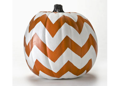 FolkArt Chevron Pumpkin