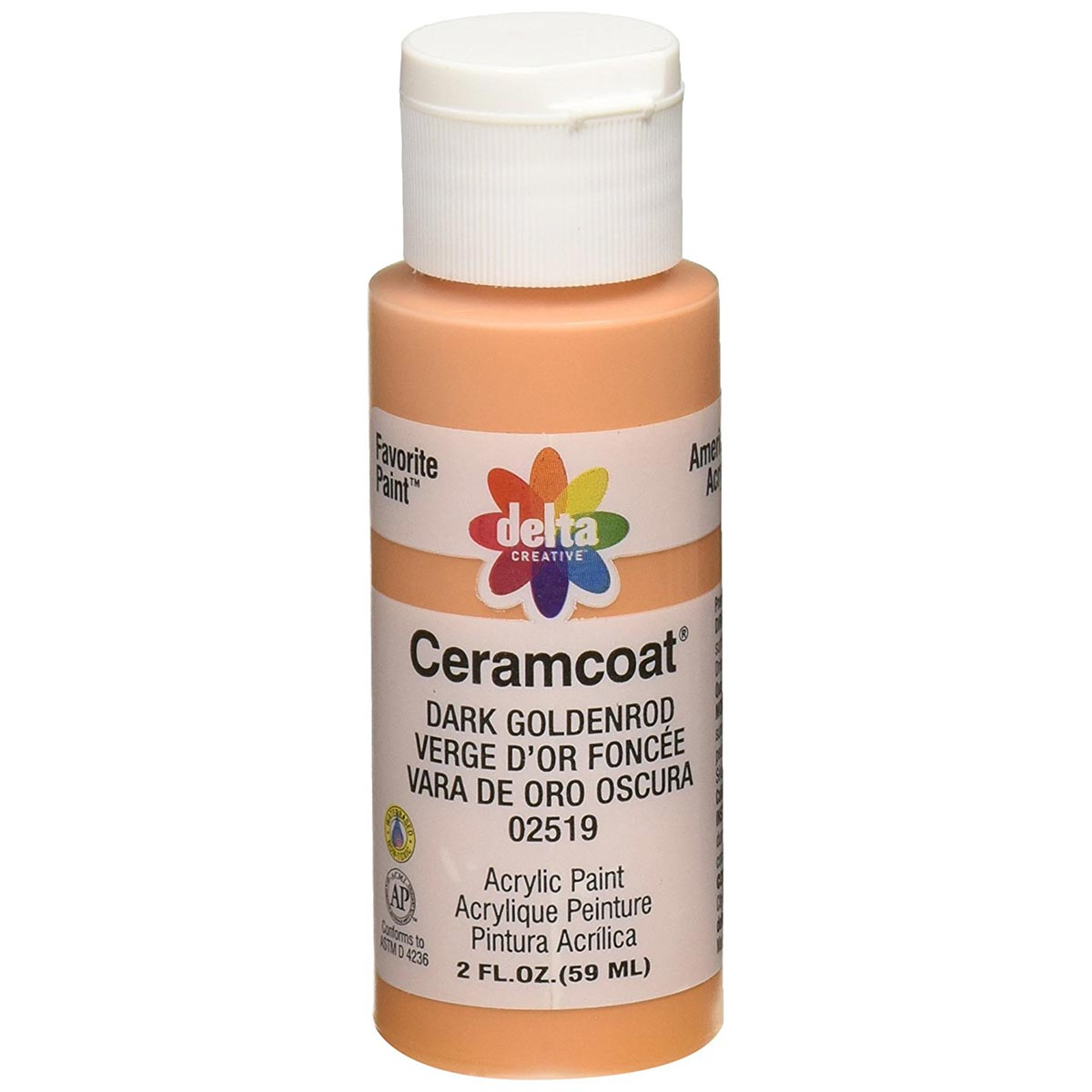 Delta Ceramcoat ® Acrylic Paint - Dark Goldenrod, 2 oz. - 025190202W