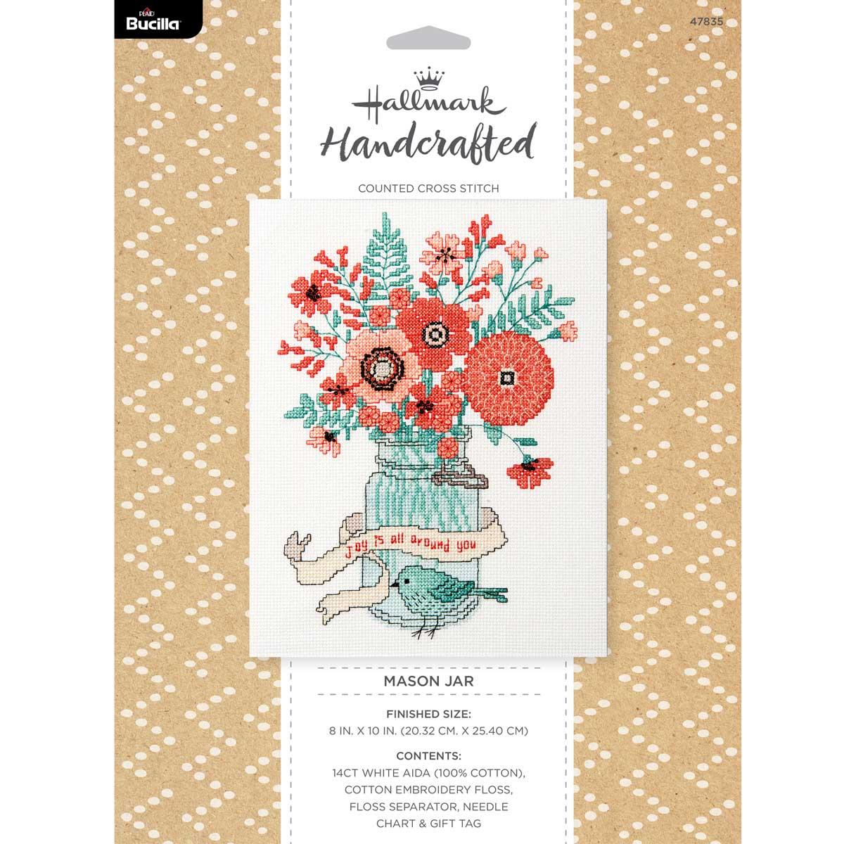 Bucilla ® Counted Cross Stitch - Picture Kits - Hallmark - Jar of Blooms