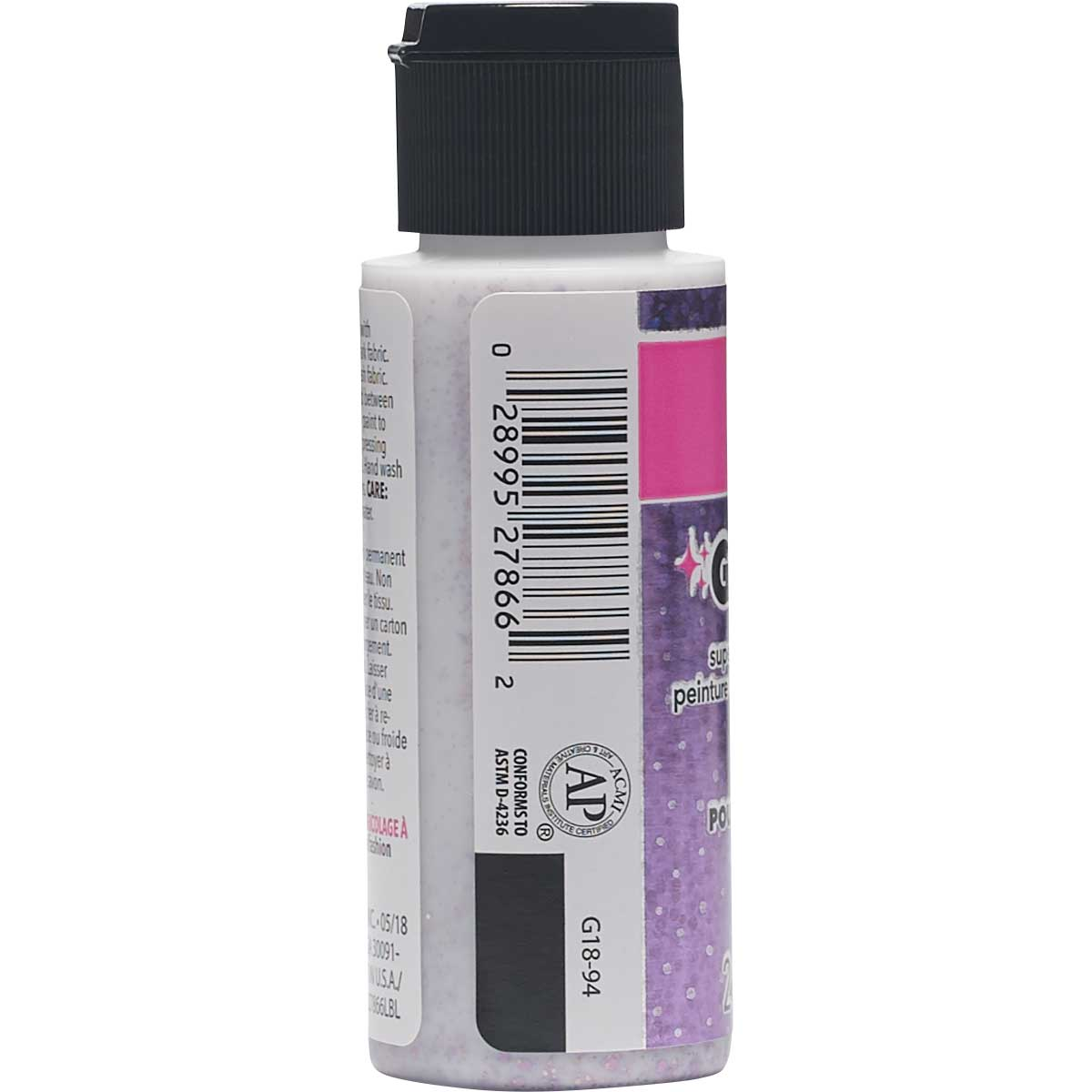LaurDIY ® Galaxy Glitter Fabric Paint - Stardust, 2 oz.