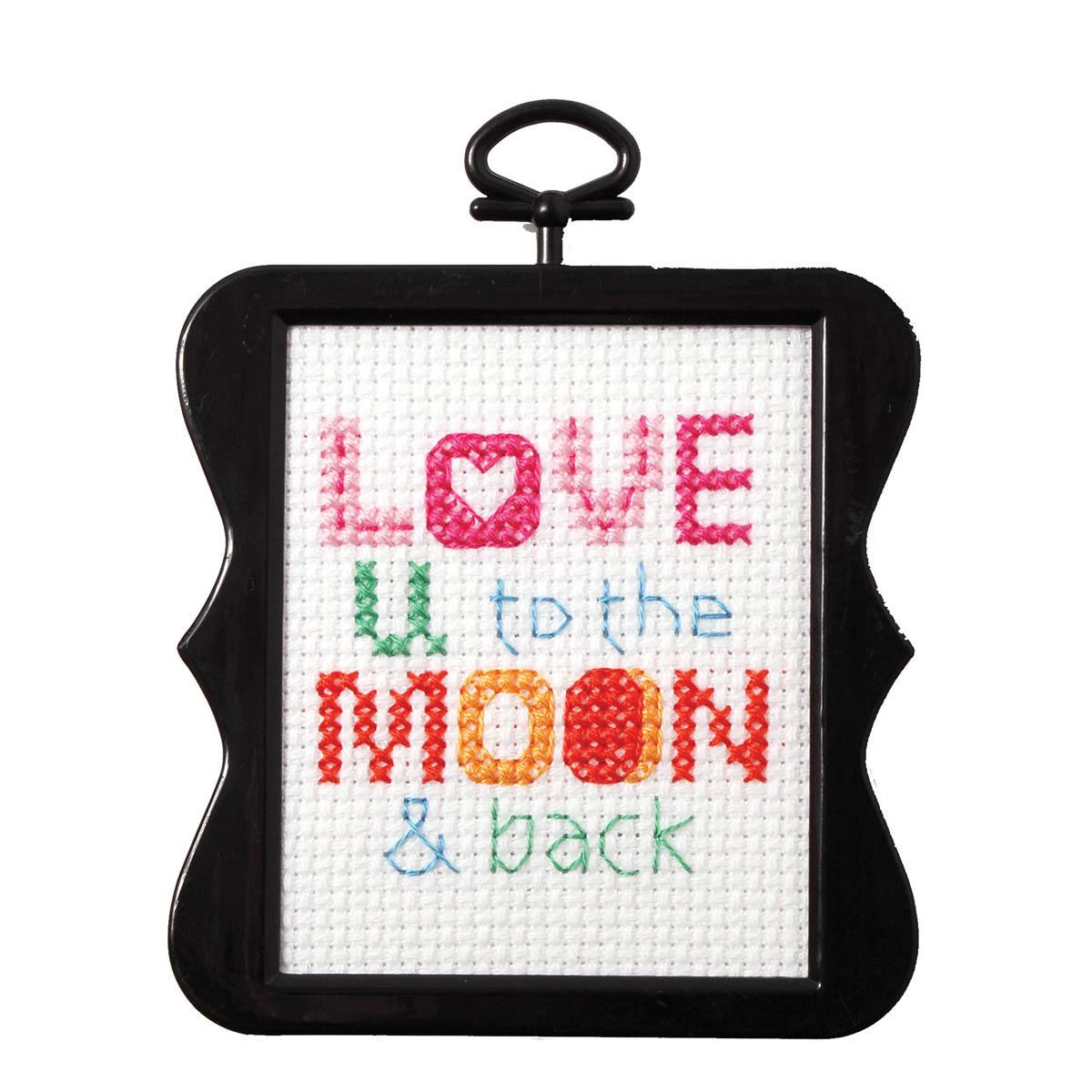 Bucilla ® Counted Cross Stitch - Beginner Stitchery - Mini - Love You to the Moon & Back