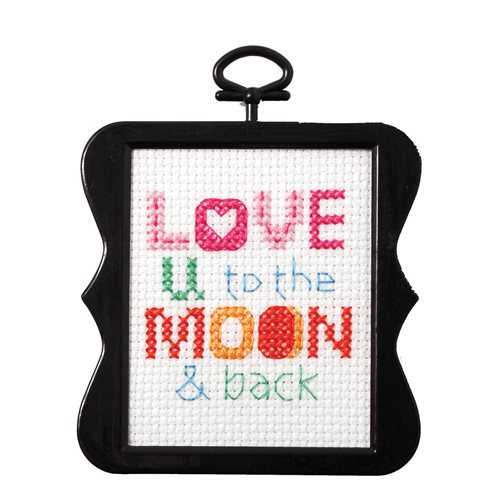 Bucilla ® Counted Cross Stitch - Beginner Stitchery - Mini - Love You to the Moon & Back - 45733