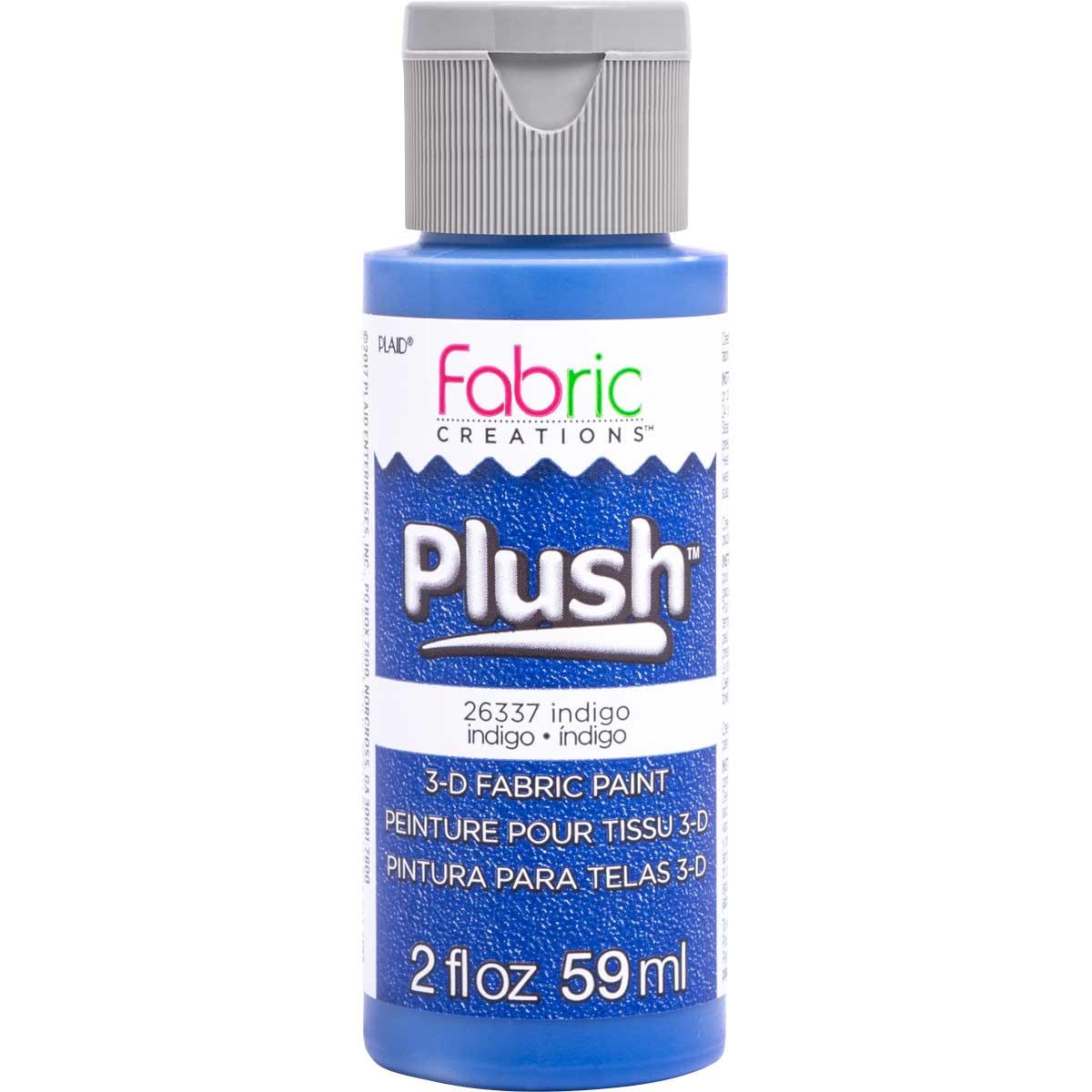 Fabric Creations™ Plush™ 3-D Fabric Paints - Indigo, 2 oz.