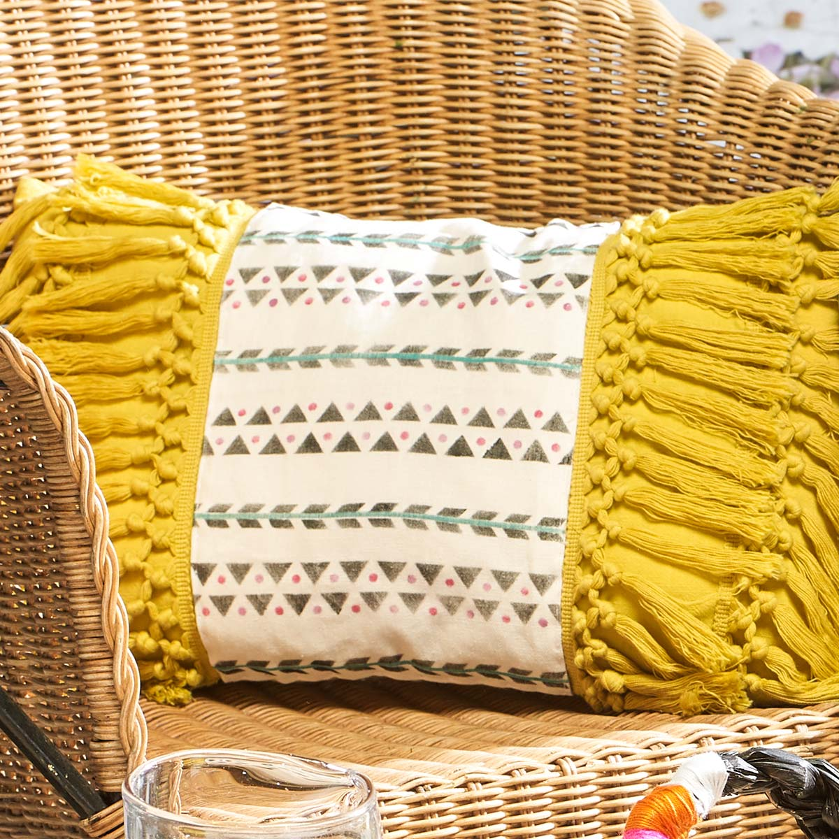 Citron Boho Pillow