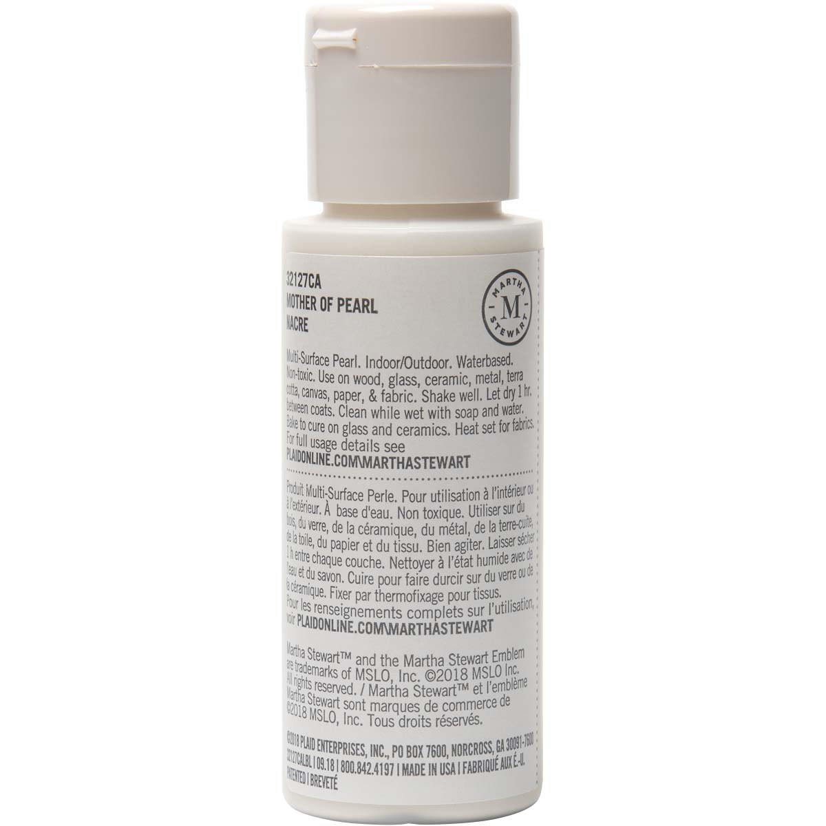 Martha Stewart® 2oz Multi-Surface Pearl Acrylic Craft Paint - Mother of Pearl