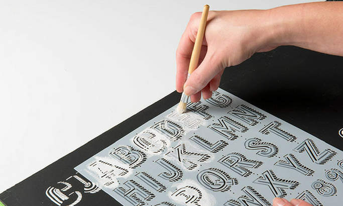 How to use Lily and Val Stencils to Create Dimensional Hand-Lettered Artwork In A Breeze!