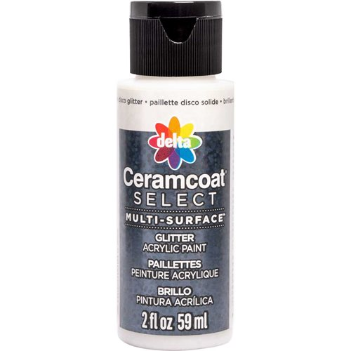 Delta Ceramcoat ® Select Multi-Surface Acrylic Paint - Glitter - Chunky Disco, 2 oz.