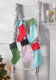 Christmas Stocking Ladder Hanger