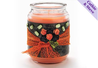 Halloween Hostess Candle Gift