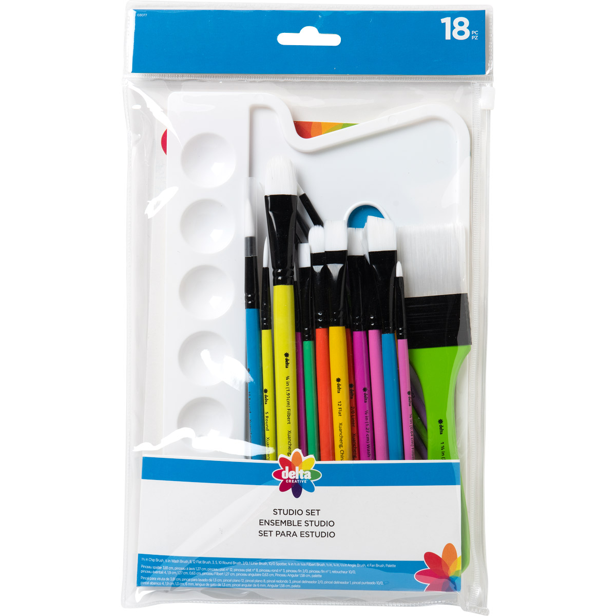 Delta Ceramcoat ® Brush Sets - Studio Set, 18 pc. - 03077
