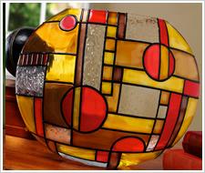 Gallery Glass Geometric Style Vase