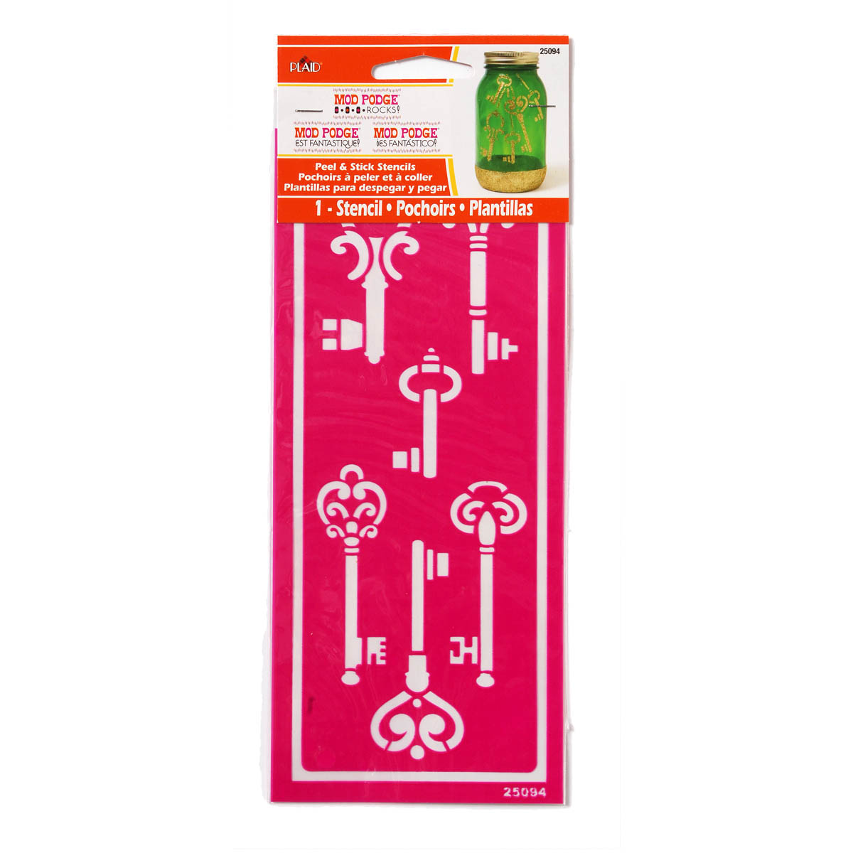 Mod Podge ® Rocks! Peel & Stick Stencils - Skeleton Keys - 25094