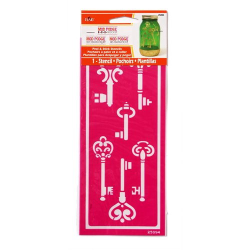 Mod Podge ® Rocks! Peel & Stick Stencils - Skeleton Keys