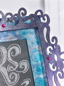 Monogram Chalkboard for DIY Quinceanera