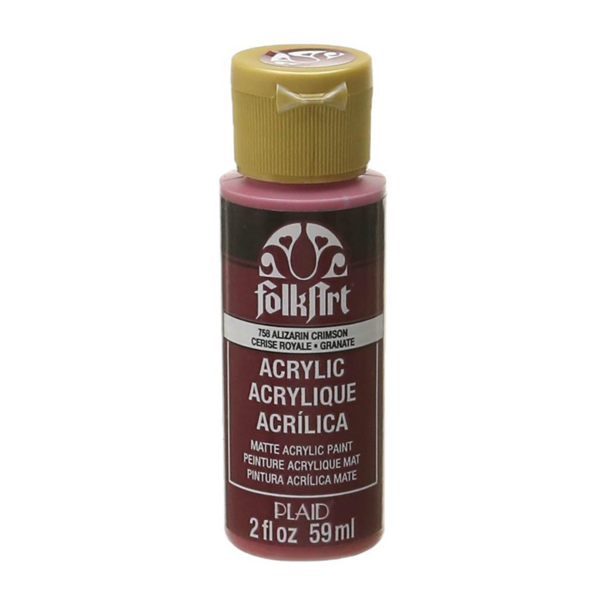 FolkArt ® Acrylic Colors - Alizarin Crimson, 2 oz.