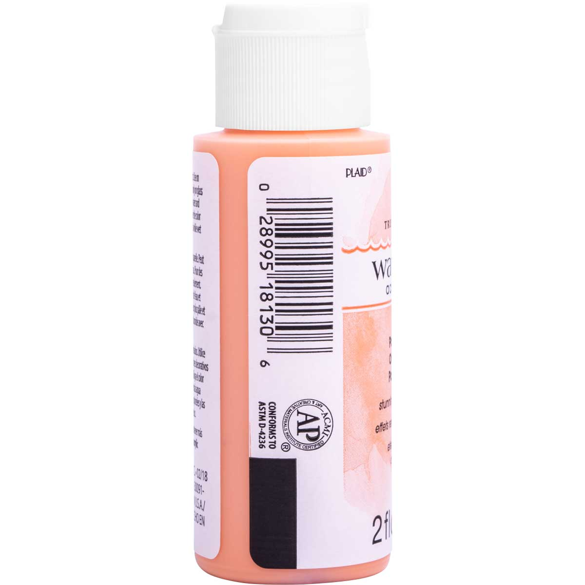 FolkArt ® Watercolor Acrylic Paint™ - Pastel Orange, 2 oz. - 18130