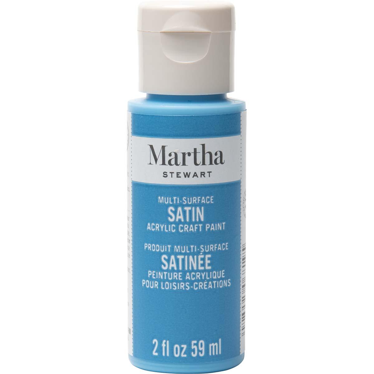Martha Stewart ® Multi-Surface Satin Acrylic Craft Paint - Rock Candy Blue, 2 oz. - 33567CA