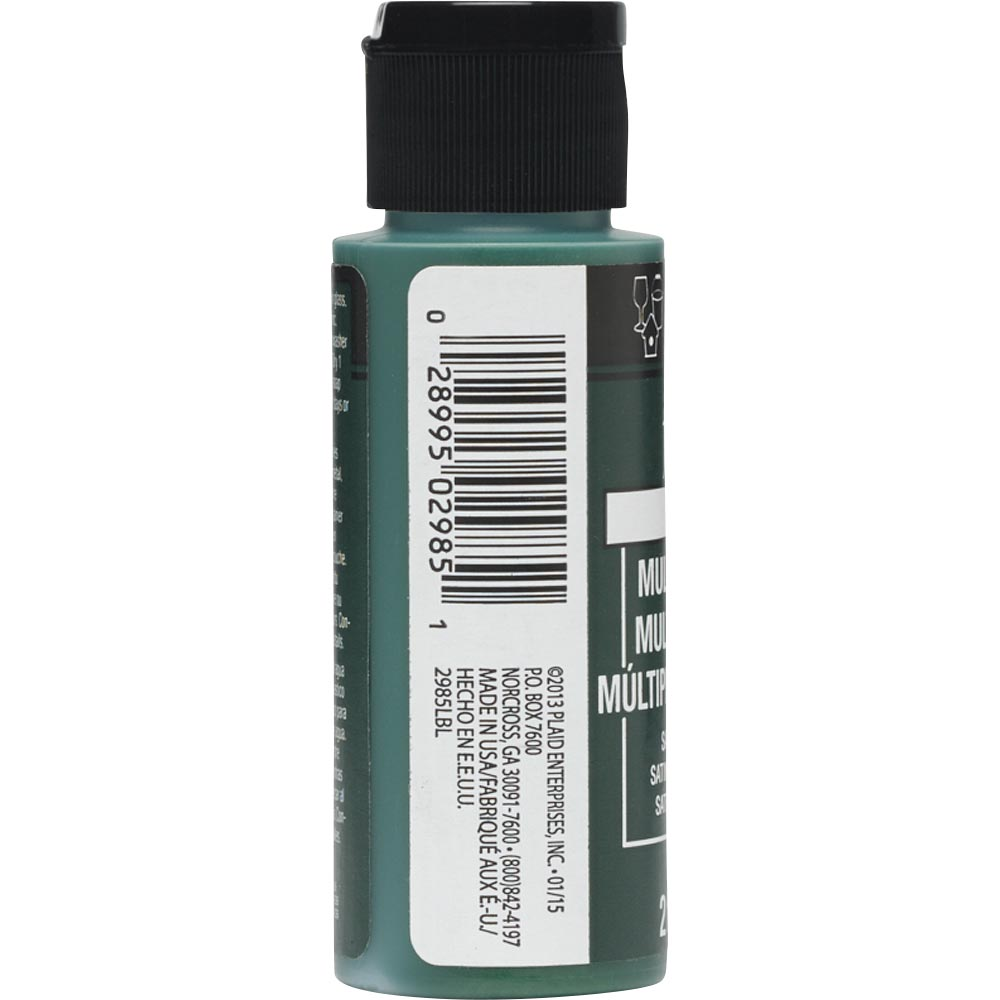 FolkArt ® Multi-Surface Satin Acrylic Paints - Sap Green, 2 oz.
