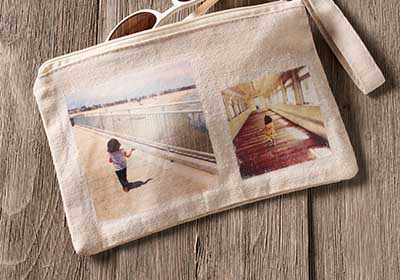 Instagram Photo Transfer to Canvas Pencil Purse