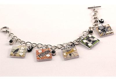 Halloween Charm Bracelet with Mod Podge