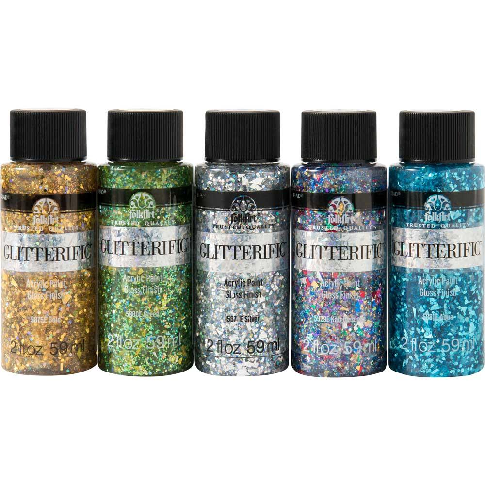 FolkArt ® Glitterific™ Enchanted Unicorn 5 Color Set
