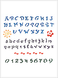 Simply ® Stencils - Laser - Fun Alphabet