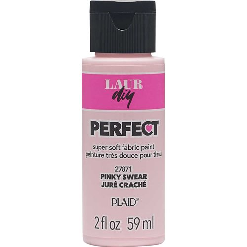 LaurDIY ® Perfect Fabric Paint - Pinky Swear, 2 oz.