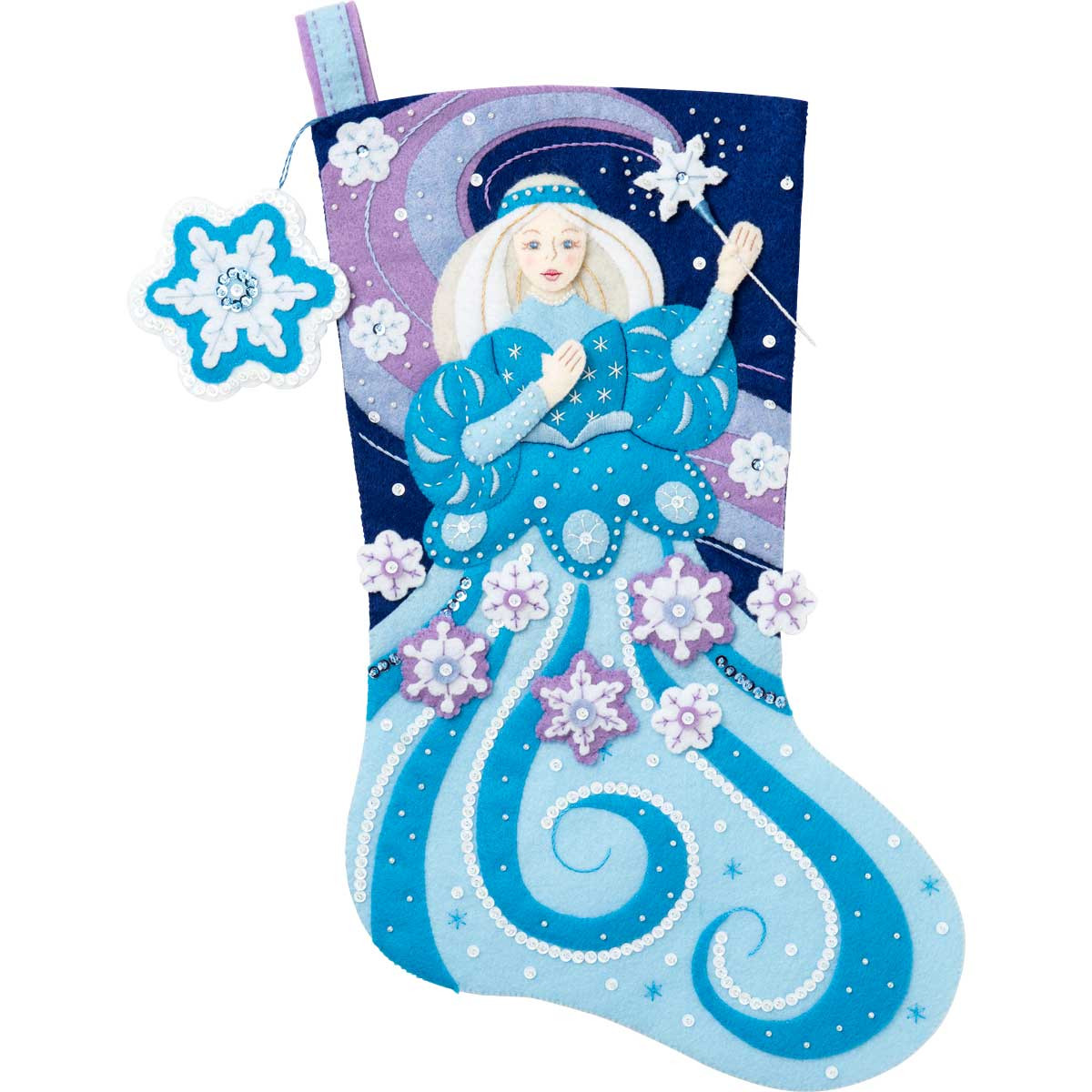 Bucilla ® Seasonal - Felt - Stocking Kits - Snow Princess - 86937E