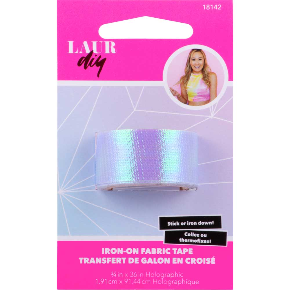 LaurDIY ® Iron-on Fabric Tape - Holographic
