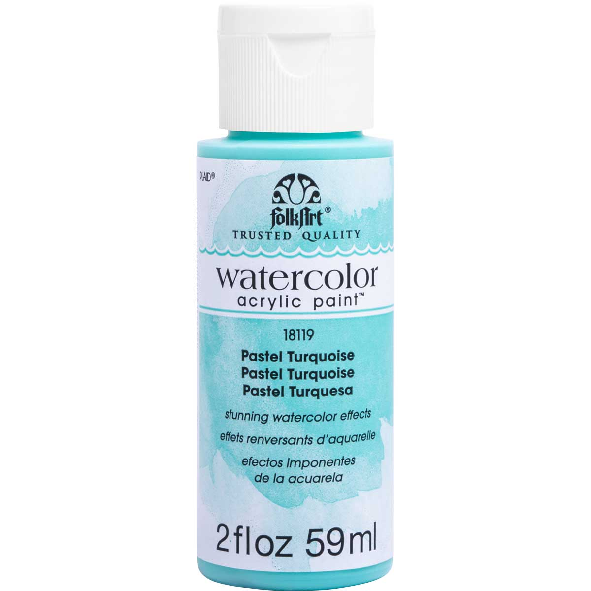 FolkArt ® Watercolor Acrylic Paint™ - Pastel Turquoise, 2 oz.