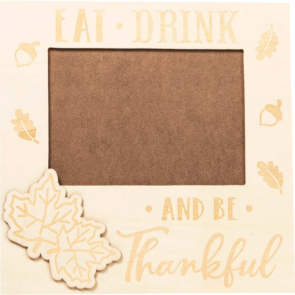 Plaid ® Wood Surfaces - Autumn Celebration Frame and Plaque Bundle - 56978