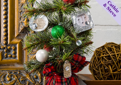 Christmas Village Pine Tree