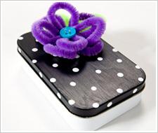 Polka Dot Candy Gift Tin