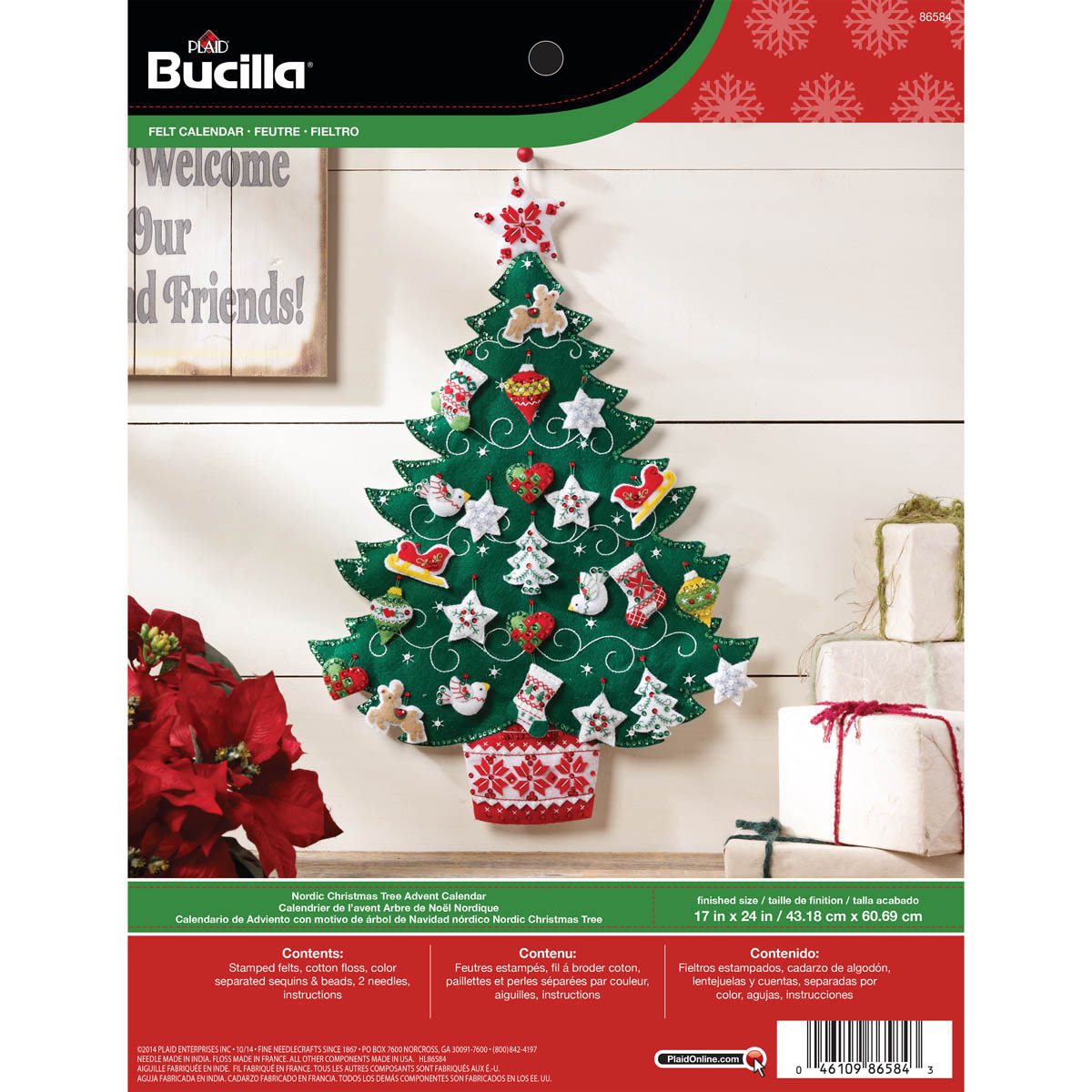 Bucilla ® Seasonal - Felt - Home Decor - Advent Calendar Kits - Nordic Tree - 86584
